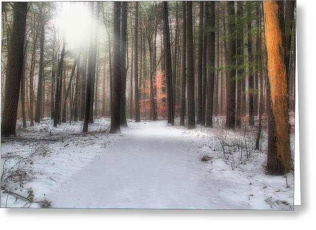 Rays Of Light Greeting Card by Andrea Galiffi