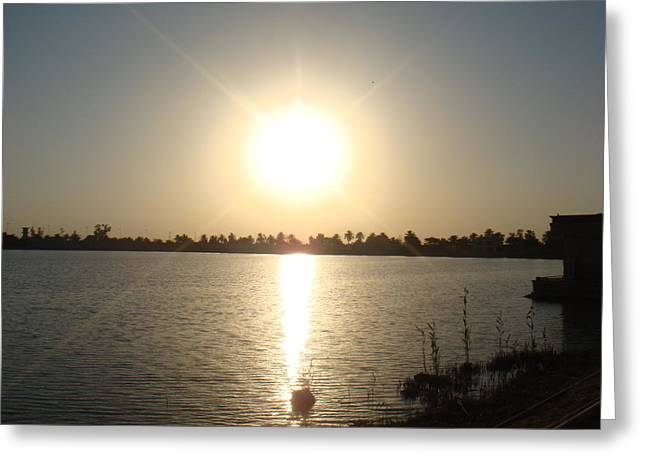 Baghdad Greeting Cards - Rays of Sunset Greeting Card by Sharla Fossen