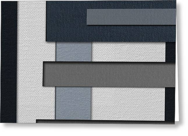 Color Block Greeting Cards - Razor Three 3D Greeting Card by Slade Roberts