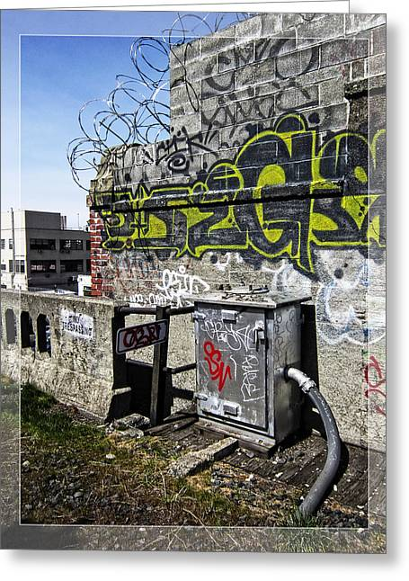 No Trespassing Greeting Cards - Razor Wire Greeting Card by Daniel Hagerman