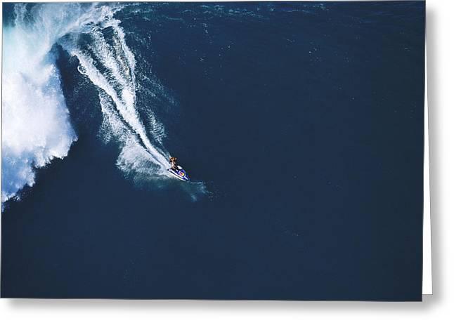Big Waves Greeting Cards - Razors edge Greeting Card by Sean Davey