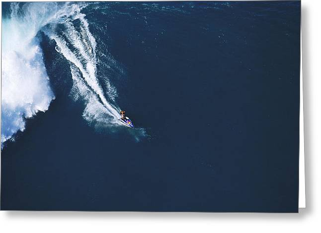 Big Waves Greeting Cards - Razors edge Greeting Card by Sean Davey