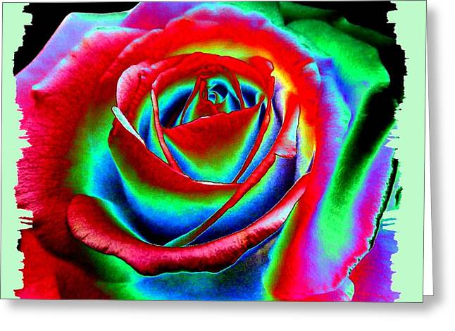 Flashy Greeting Cards - Razzle Dazzle Rose Greeting Card by Will Borden