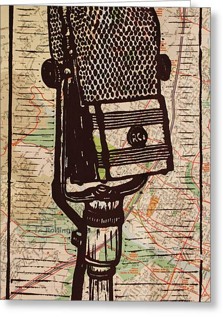 Lino Greeting Cards - RCA 44 on Austin Map Greeting Card by William Cauthern