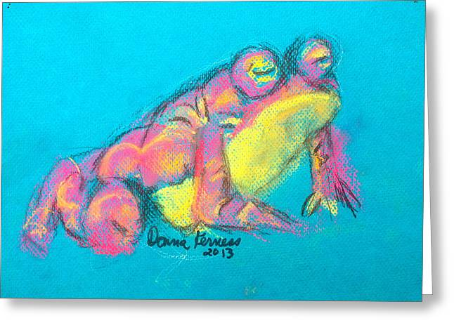 Amphibians Pastels Greeting Cards - Re Beep Greeting Card by Donna Kerness