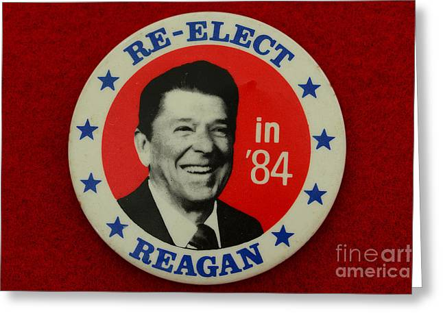 Republican Greeting Cards - Re-Elect Reagan Greeting Card by Paul Ward