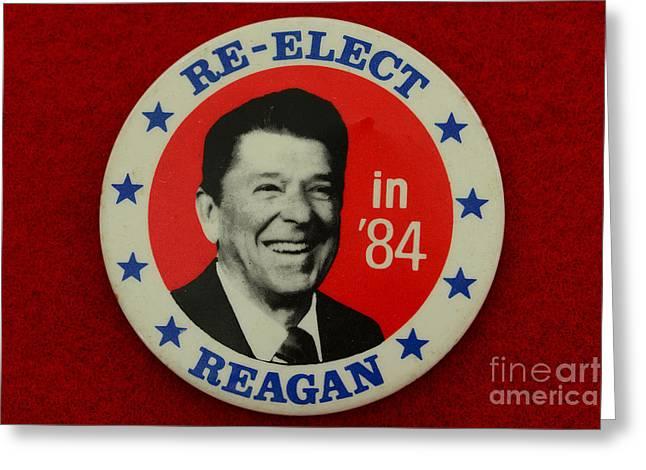 Re-Elect Reagan Greeting Card by Paul Ward