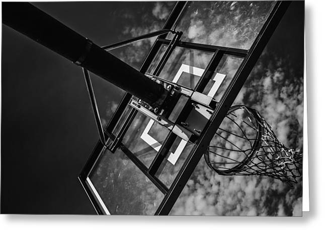 Basket Ball Game Greeting Cards - Reach For The Basket Greeting Card by Karol  Livote