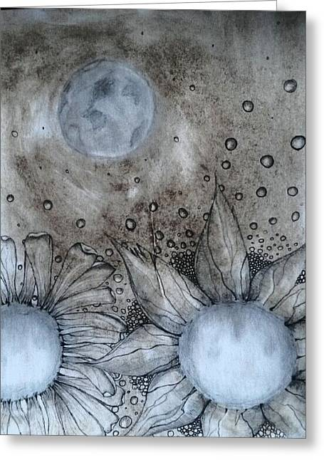 Reach For The Moon Greeting Card by Lori Thompson