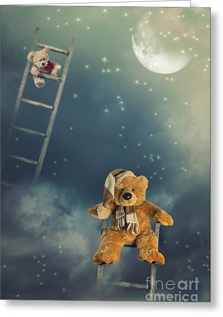 Moonlit Night Greeting Cards - Reach For The Stars Greeting Card by Amanda And Christopher Elwell