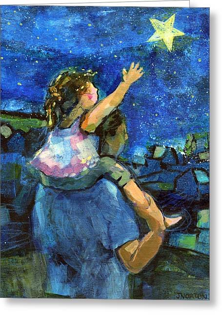 Reach Greeting Cards - Reach for the Stars Greeting Card by Jen Norton