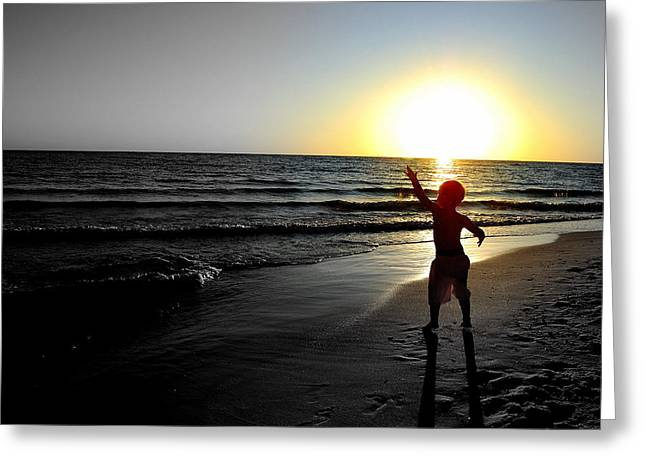 Panama City Beach Greeting Cards - Reach for Your Dreams 2 of 4 Greeting Card by May Photography