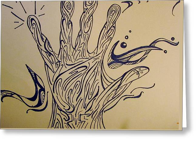 Aura Drawings Greeting Cards - Reach Greeting Card by Shelby Robbins