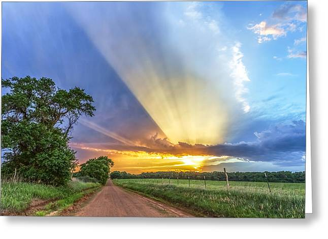 Crepuscular Rays Greeting Cards - Reaching for Heaven Greeting Card by Jill Van Doren Rolo