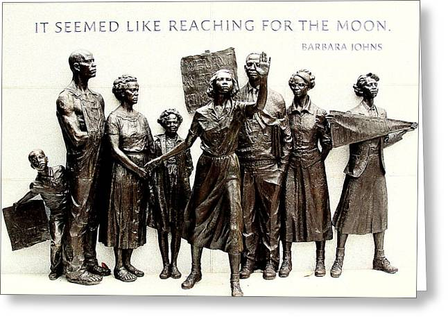 Desegregation Greeting Cards - Reaching for the Moon Greeting Card by Greg Thiemeyer