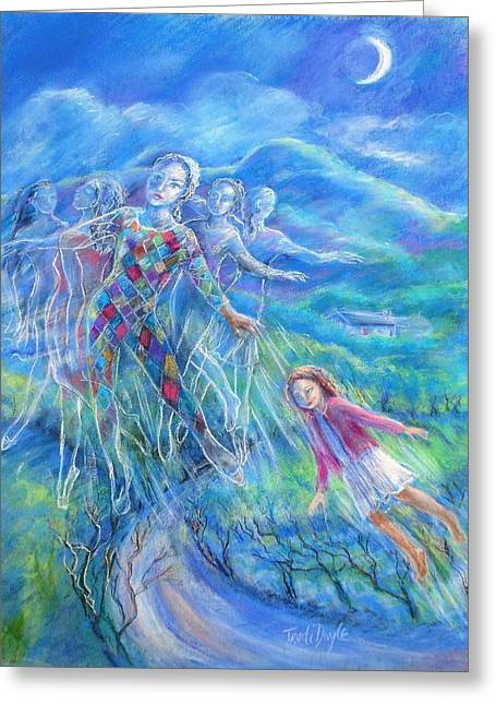 Dance Of Joy Greeting Cards -  Moondance Greeting Card by Trudi Doyle