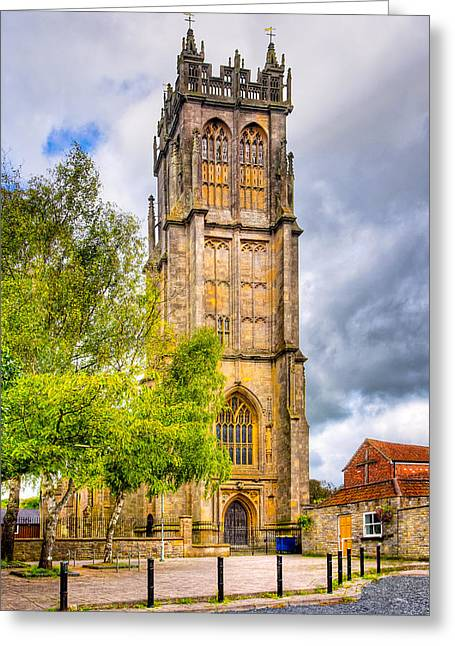 Glastonbury Greeting Cards - Reaching For The Sky - St Johns Church Glastonbury Greeting Card by Mark Tisdale