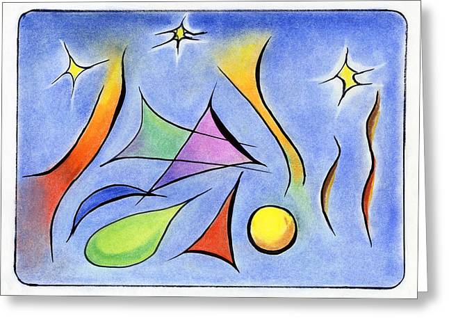 Reaching for the Stars Greeting Card by ILONA MONTEL