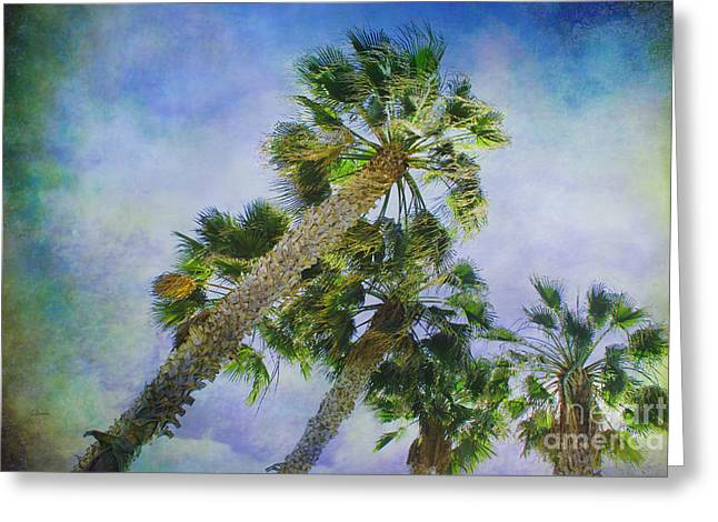 Reaching For Heaven Greeting Cards - Reaching Heaven 2 - landscape orientation Greeting Card by Claudia  Ellis