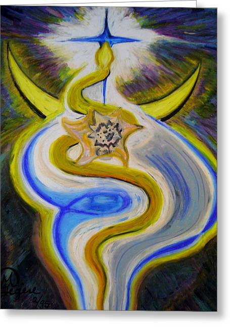 Snakes Pastels Greeting Cards - Reaching high Greeting Card by Therese Legere