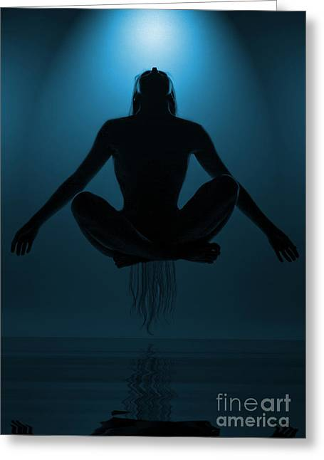 Human Greeting Cards - Reaching Nirvana.. Greeting Card by Nina Stavlund