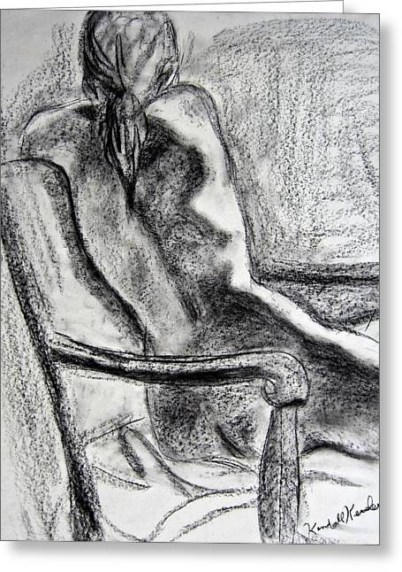 Nude Drawings Greeting Cards - Reaching Out Greeting Card by Kendall Kessler