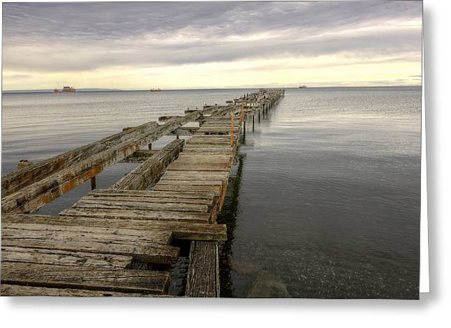 Wooden Ship Greeting Cards - Reaching to the Horizon Greeting Card by Claudio Bacinello
