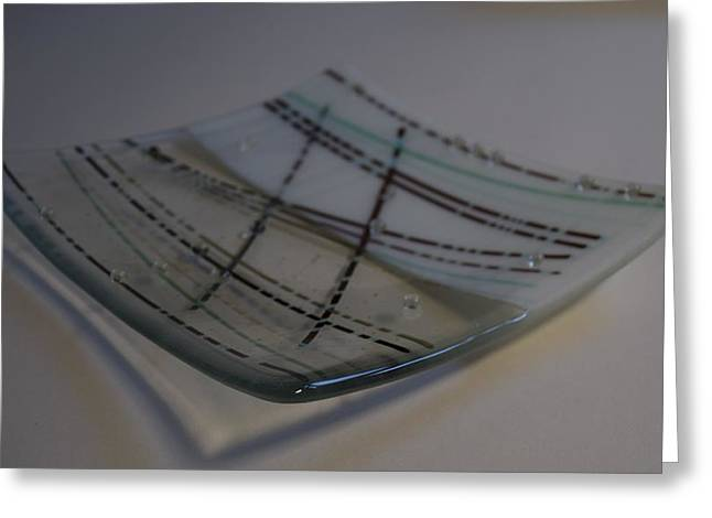 Lines Glass Art Greeting Cards - Reactive Linear Greeting Card by Rosalind Duffy