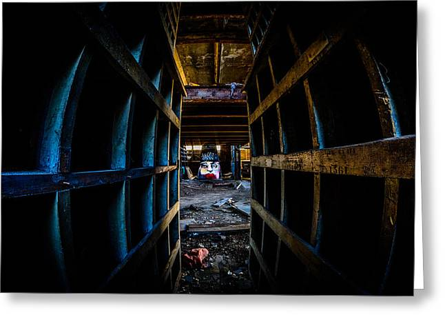 Abandonded Greeting Cards - Read My Lips Greeting Card by Randy Scherkenbach