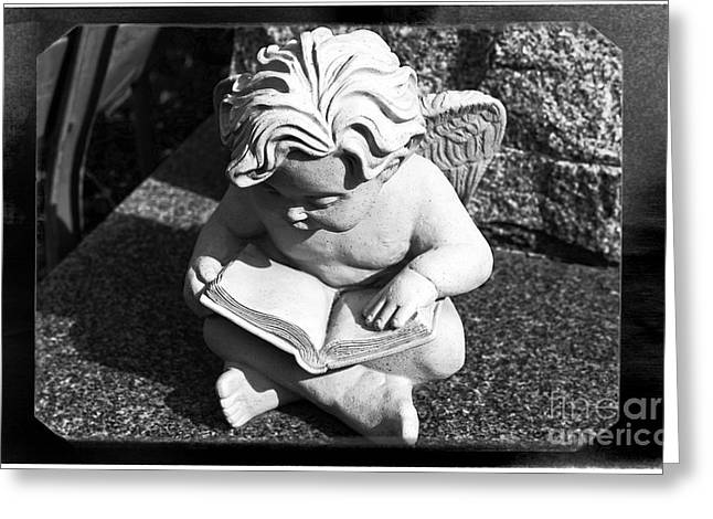 Reading Images Greeting Cards - Reading Angel Greeting Card by John Rizzuto