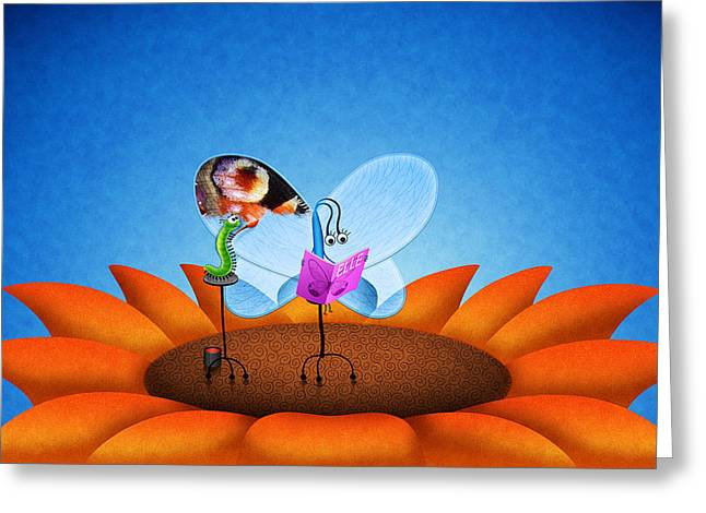 Amazing Digital Art Greeting Cards - Reading Elle Greeting Card by Gianfranco Weiss