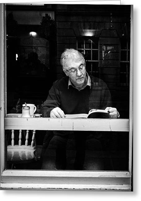 Streetphotography Greeting Cards - Reading Greeting Card by Giuseppe Milo