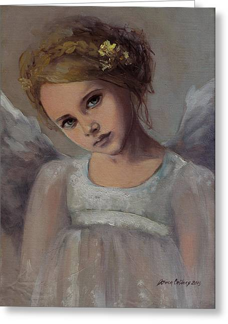 White Wing Greeting Cards - Reading Into Your Soul  Greeting Card by Dorina  Costras