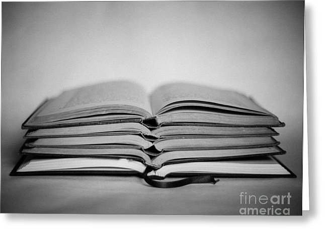Monochromatic Study Greeting Cards - Reading Time Greeting Card by Sonja Quintero