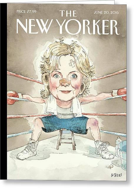Ready For A Fight Greeting Card by Barry Blitt