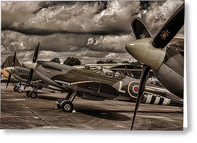 Air Shows Greeting Cards - Ready For Action Greeting Card by Martin Newman