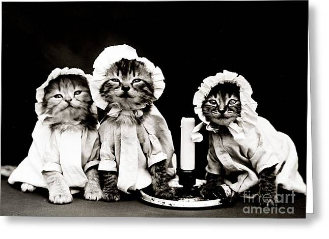 Nightdress Greeting Cards - Ready For Bed 1914 Greeting Card by Science Source