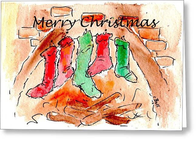 Cbull Greeting Cards - Ready for Christmas with words Greeting Card by Claire Bull