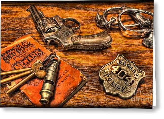 Ready for Duty - Police Officer Greeting Card by Lee Dos Santos