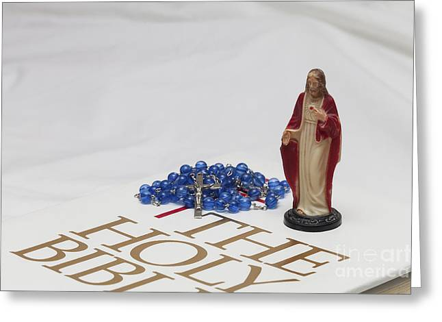 Rosary Greeting Cards - Ready for Prayer Greeting Card by Diane Macdonald