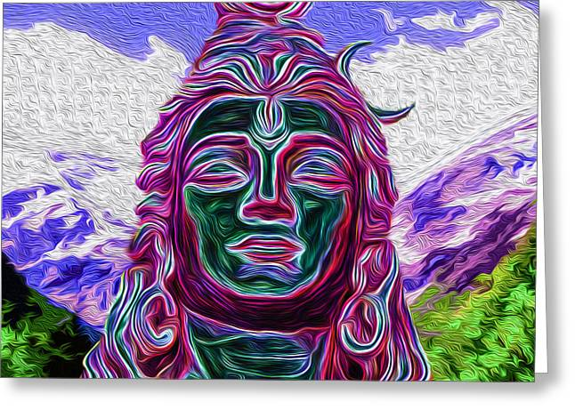 Goddess Durga Digital Art Greeting Cards - Ready for Shakti Greeting Card by Tarik Eltawil
