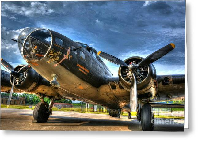 Vintage Nose Art Greeting Cards - Ready For Takeoff 3 Greeting Card by Mel Steinhauer
