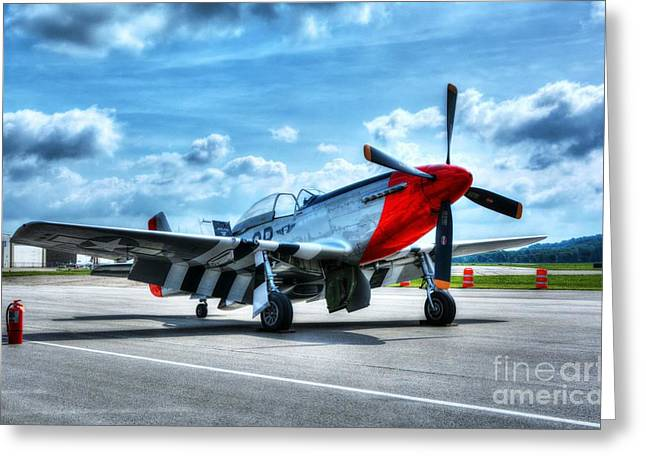 Military Airplanes Greeting Cards - Ready For Takeoff Greeting Card by Mel Steinhauer