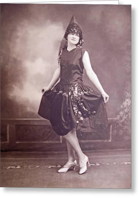 Nostalga Greeting Cards - Ready for the Dance Greeting Card by Barbara McDevitt