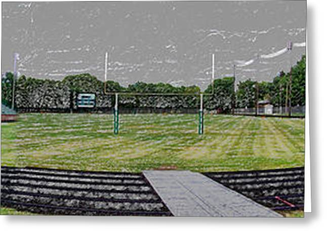 Wide Front End Greeting Cards - Ready For The Football Season Panorama Digital Art Greeting Card by Thomas Woolworth