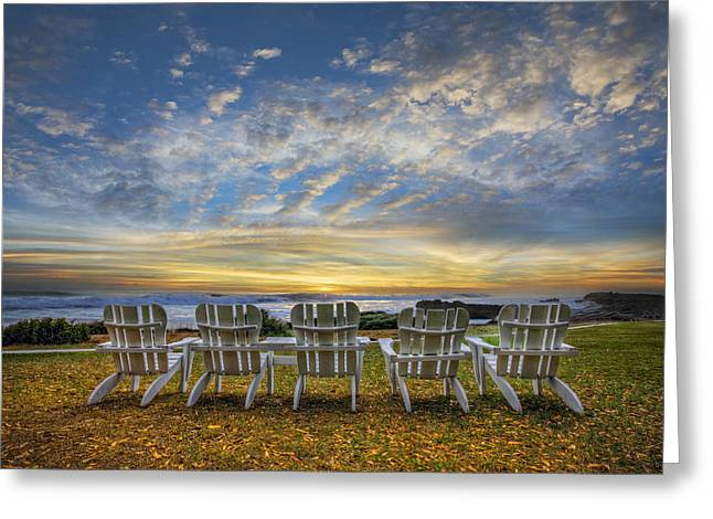 Lounge Photographs Greeting Cards - Ready for the Morning Greeting Card by Debra and Dave Vanderlaan