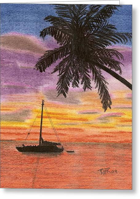 Tropical Pastels Greeting Cards - Ready for the Night Greeting Card by Ray Ratzlaff