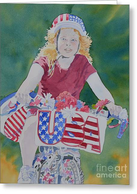 4th Of July Parade Greeting Cards - Ready for the Parade Greeting Card by Barbara Tibbets