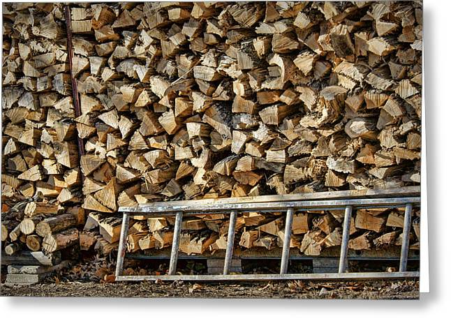 Woodpile Greeting Cards - Ready for Winter #1 Greeting Card by Nikolyn McDonald