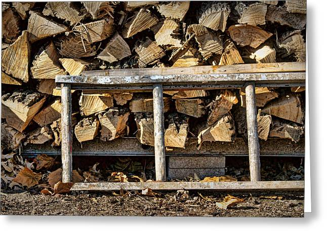 Woodpile Greeting Cards - Ready for Winter #2 Greeting Card by Nikolyn McDonald